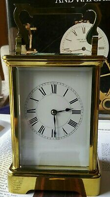 ANTIQUE FRENCH CARRIAGE CLOCK WITH STRIKE beautiful original condition