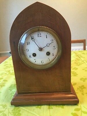 Antique Mantle Clock 11 Inch High 4 Inch Dia. Clock Face