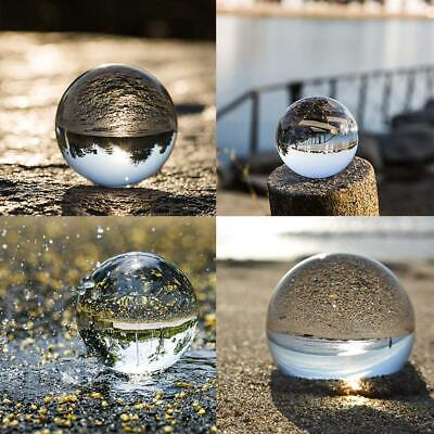50-100mm Clear Glass Crystal Ball Photography Photo Props Art Gifts (No Stand)