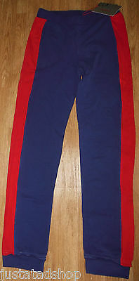 Girl tracksuit pants joggers trousers Laura Biagiotti  10-11-12 y blue red