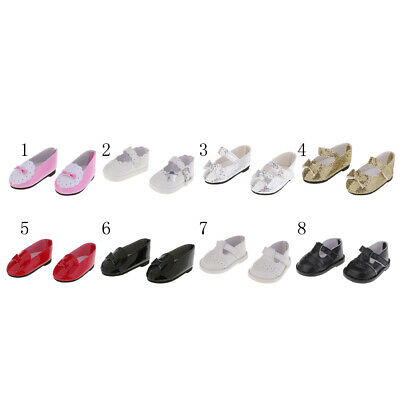 Multi PU Leather Thin Shoes Sticky Strap Sneakers for 18inch American Doll Doll