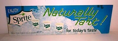 Coca Cola Original Card Stock Advertisement for Enjoy Sprite Naturally Tart-24x7