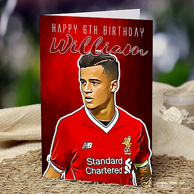 Liverpool FC Personalised Birthday Card Any Name or Relative