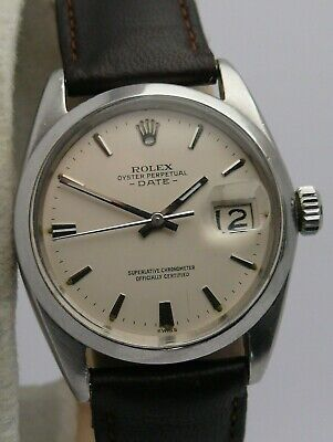 1960s Vintage Gents Rolex Oyster Perpetual Date 1500 WRISTWATCH 1560 Calibre