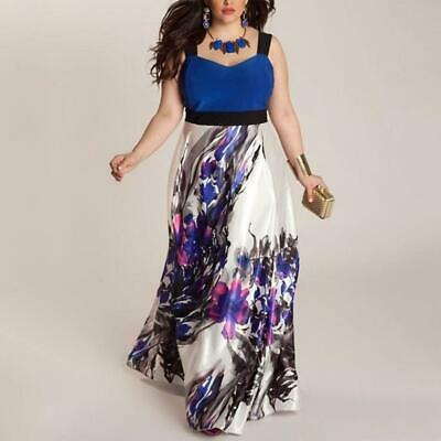 Plus Size Women's Long Evening Party Prom Gown Formal Bridesmaid Cocktail Dress