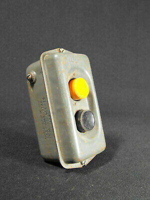 1 of 3 Vintage Industrial START STOP pushbutton switch USSR factory loft