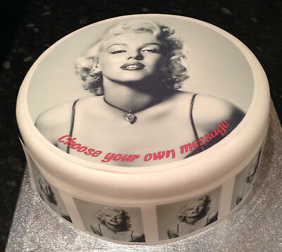 Marilyn Monroe 01 pre-cut Edible Icing Cake Topper or Ribbon