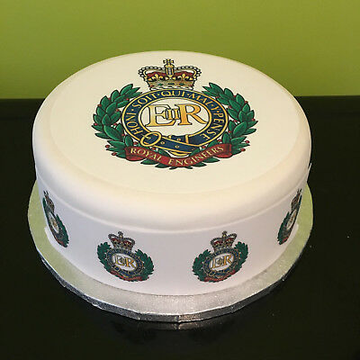 Royal Engineers pre-cut Edible Icing Cake Topper or Ribbon