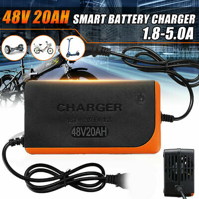 48V 20AH 1.8-5.0A Electric Bike Scooter Lead Acid Battery Power Charger Adapter