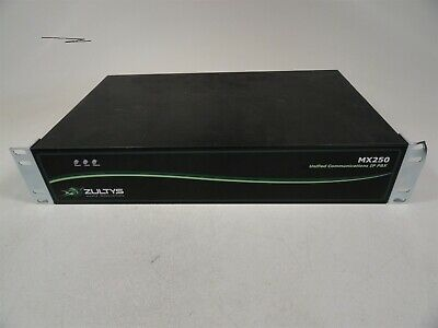 Zultys MX250 89-00250 Unified Communications IP PBX Power Tested NO HDD AS-IS