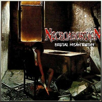NECROABORTION - Brutal Misanthropy CD NEW Death Metal, CANNIBAL CORPSE, EXHUMED