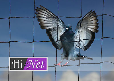 Garden Anti Bird Netting Heavy Duty Knotted Net Strong Pigeon Black Mesh 50mm