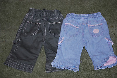 Mothercare, Girls, Bundle, Lined, Trousers, x2, Newborn, 0-3 months