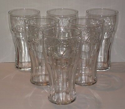 6 verres COCA COLA soda pub bar bistrot glasses