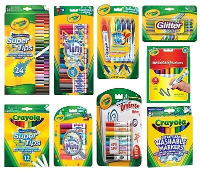 Crayola Markers - Supertips, Dry Erase, Flip Top, Glitter, Pipsqueaks, Washable