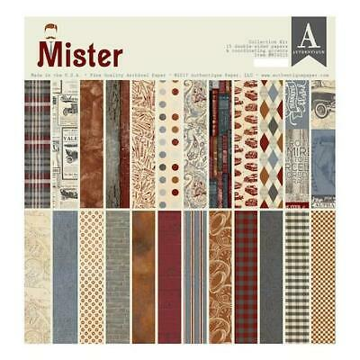 "Authentique 12""x12"" Papers & Accents Collection Kit 16pcs - Mister"
