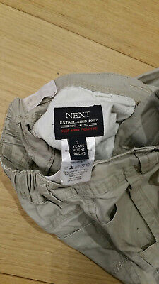 NEXT Boys' 3 Years Chino Trousers Stone Coloured - Excellent Condition