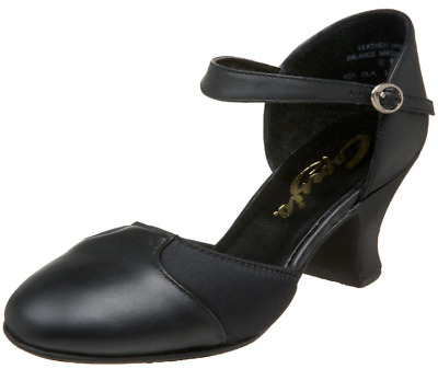 Capezio Piccadilly Black Character Shoes - GREAT Ballroom Or Musical Theater