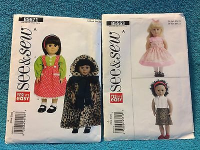 """See /& Sew 5671 Doll Clothes for 18/"""" Doll NEW HOT Only $4.97   Sewing Pattern"""