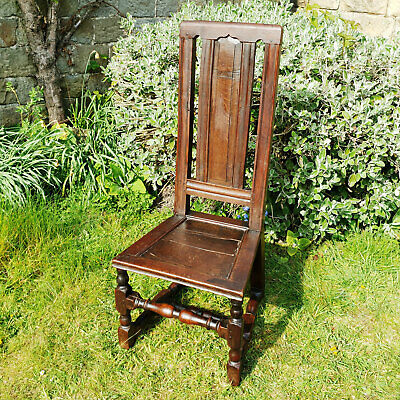 C17th Carolean Oak High Back Chair (Jacobean)