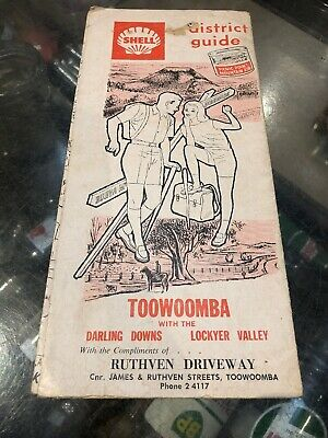 Shell Toowoomba District Guide Vintage Map