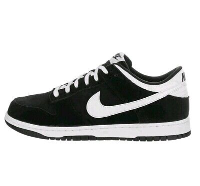 6d2a1d472928 NIKE Dunk Low Black White 904234-001 sb Skate Shoes Suede size 8.5