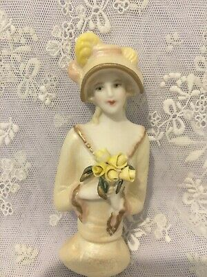"""Porcelain Half Doll - """"Claudia"""" approx 8.5 cms"""