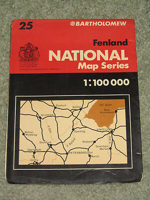Bartholomews National map Series 1:100,000 - No 25 Fenland