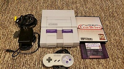 Super Nintendo SNES 1chip and all hookups With Official Super EverDrive