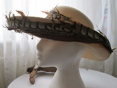 Ladies Vintage Formal Hat by Norman Edwin London W1 - Wedding - Races