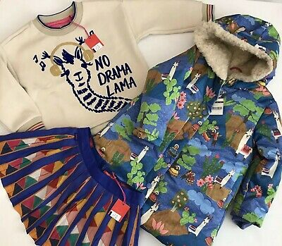 oilily Girls 3 Piece Outfit BNWT COAT SKIRT JUMPER AGE 4 RRP £283 ❌❌❌❌ NOW £140