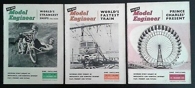 The Model Engineer MAGAZINE 3 issues 1955 December Engineering