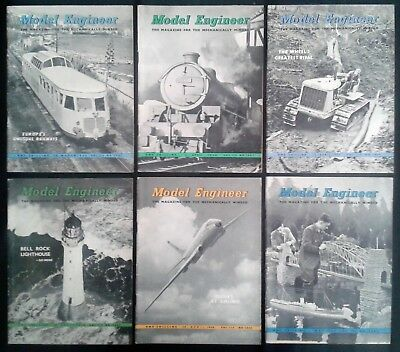 The Model Engineer MAGAZINE 6 issues 1956 March April May Engineering