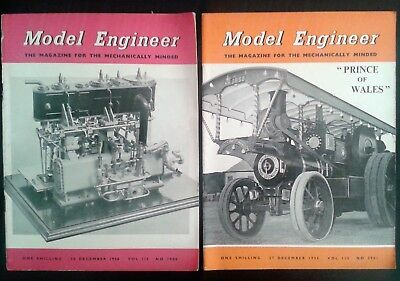 The Model Engineer MAGAZINE 2 issues 1956 December Engineering