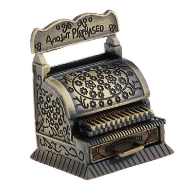 Dollhouse Miniature Metal Old Fashion Cash Register for Country Store DDL8757