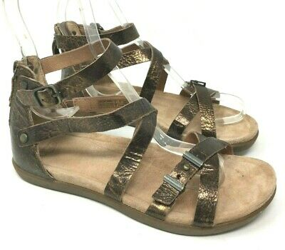 a907bb9bc5e UGG DEVIE MAR Gladiator Strappy Sandals Shoe BLACK Leather 7US $110 ...