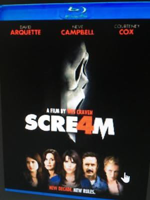 SCREAM 4 -  Used BLU-RAY Disc ONLY * PLEASE READ DESCRIPTION