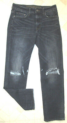 American Eagle Outfitters Mens Jeans Sz 30 x 32 Original Straight, Extreme Flex