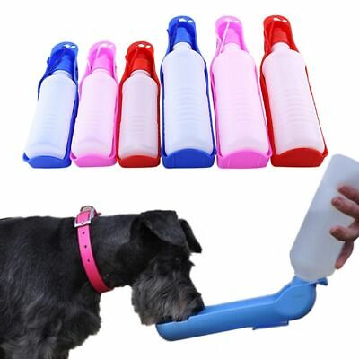 Portable Dog Water Bottle Feeder With Bowl Plastic Outdoor Travel Drinking Tool