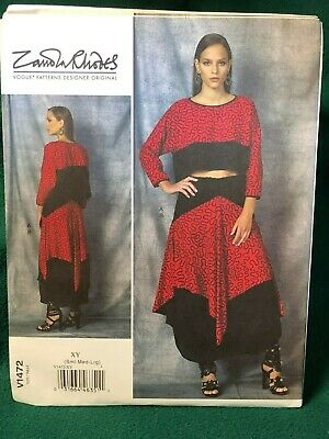 Vogue Patterns 1472 XY,Misses Top and Skirt,Sizes SML-LRG