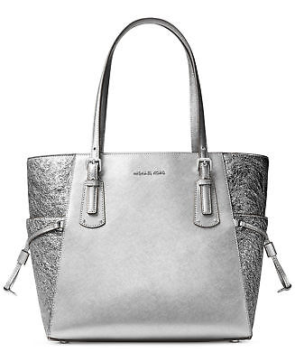 112180710b36 NWT MICHAEL Michael Kors Voyager Tote Bag Light Pewter FACTORY SEALED  PACKAGE