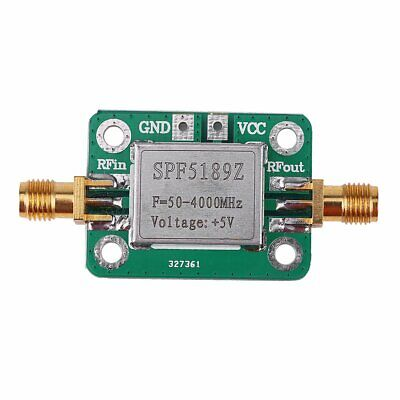 LNA 50-4000 MHz RF Low Noise Amplifier Signal Receiver SPF5189 NF = 0.6dB inm FK