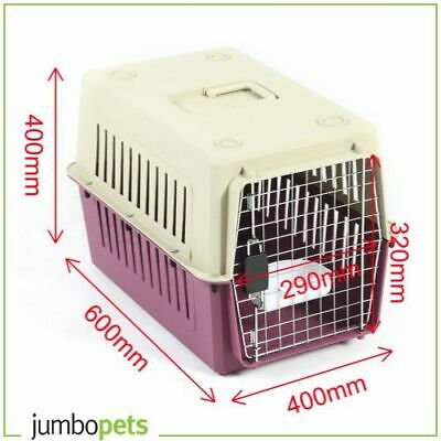 Petset Dog and Cat Pet Carrier Crate Airline Approved Travel Medium (Red)