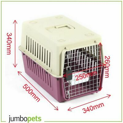 Petset Dog and Cat Pet Carrier Crate Airline Approved Travel Small (Red)