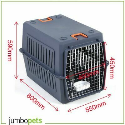 Petset Dog and Cat Pet Carrier Crate Airline Approved Travel Large (Blue)