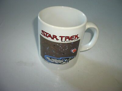 Vtg Kilncraft Star Trek Heat Reactive Coffee Mug Kligon Warbird Uss Enterprise
