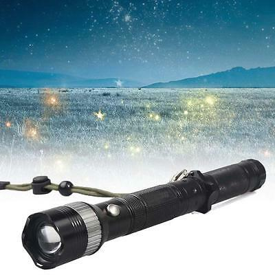 Q5 LED Flashlight Torch 12000LM Adjustable Focus Zoom Light Lamp Camping AC