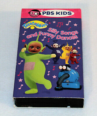 PBS KIDS TELETUBBIES - Silly Songs and Funny Dances VHS Video Tape 2002