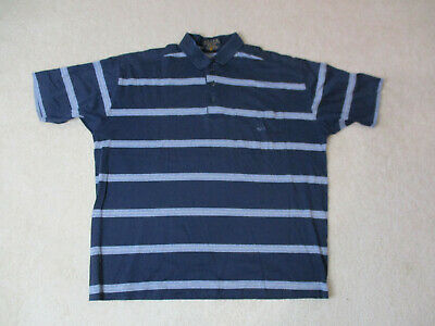 Paul & Shark Polo Shirt Adult Extra Large Blue Gray Striped Sailing Rugby Mens