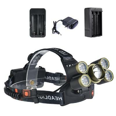 Zoomable 35000 LM Military Head Lamp -T6 + XPE LED Headlamp Flashlight AC